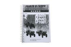 Kubota B5001, B6001, B7001 Catalogue de pièces avec dessins technique