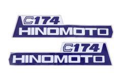 Autocollants pour capot Hinomoto C174