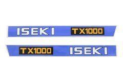 Autocollant pour capot Iseki TX1000