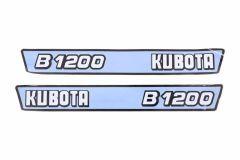 Autocollant pour capot Kubota B1200