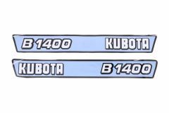 Autocollant pour capot Kubota B1400