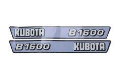 Autocollant pour capot Kubota B1600