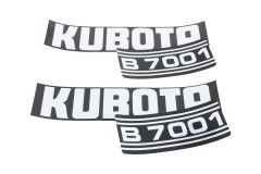Autocollant pour capot Kubota B7001