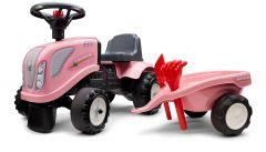Rose New-Holland Porteur tracteur avec remorque et outils