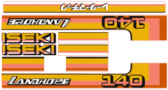 Autocollant pour capot Iseki Landhope TU140