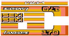 Autocollant pour capot Iseki Landhope TU170