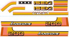 Autocollant pour capot Iseki Landhope TU200