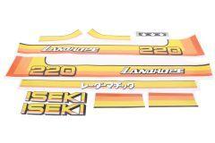 Autocollant pour capot Iseki Landhope TU220