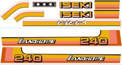 Autocollant pour capot Iseki Landhope TU240