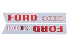 Autocollant pour capot Ford 3000  -1968