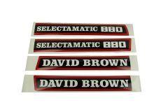 Kit autocollants latéraux David Brown selectamatic 880