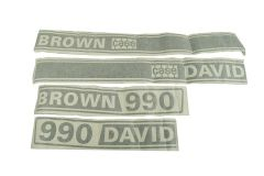 Autocollant pour capot David Brown 990