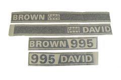 Autocollant pour capot David Brown 995