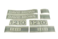 Kit autocollants latéraux Case David Brown 1210
