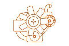 Kubota moteur V2203,  Kubota, Bobcat, Case, Schaffer